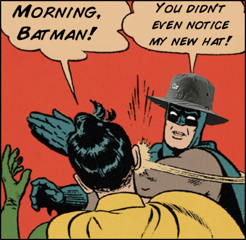 Hey Batman, thats a nice hat