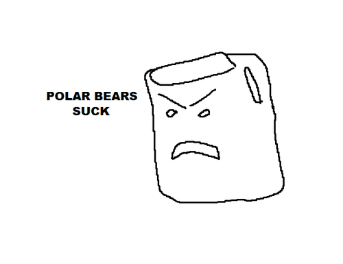 Polar bears suck