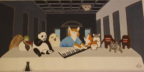 La última cena con el Keyboard Gato
