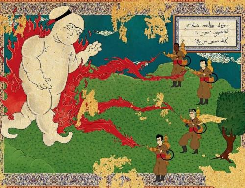Retratos de filmes en estilo miniatura otomana por Murat Palta