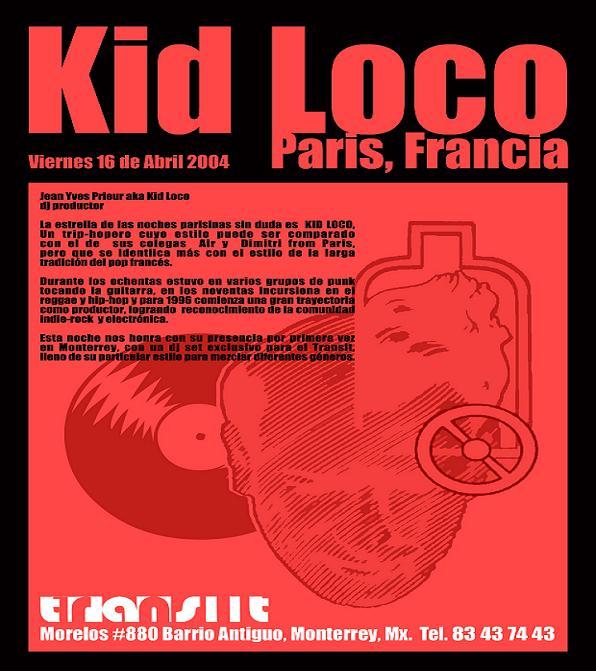Old Skool flyer de Kid Loco en MTY